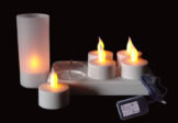 Set de velas LED recargables