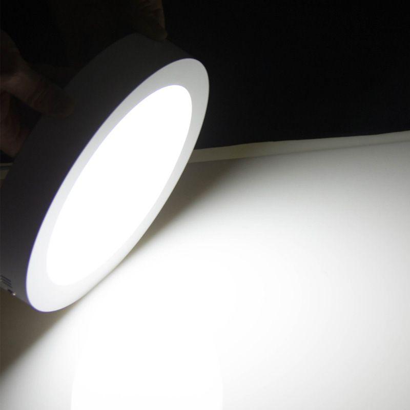 PANEL LED CIRCULAR DE SUPERFICIE 6 W CW/ WW 110V