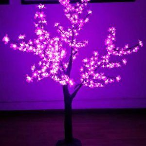 ÁRBOL LED ROSADO 240 LUCES 12W 110V