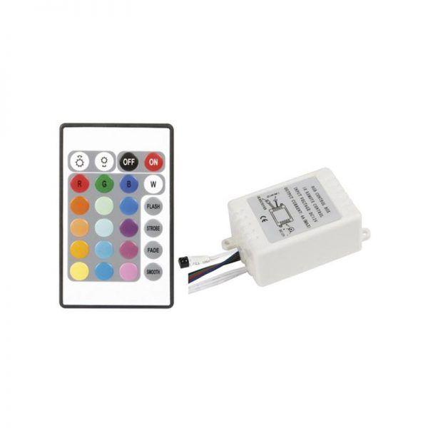 CONTROLADOR RGB 12V 24 KEY