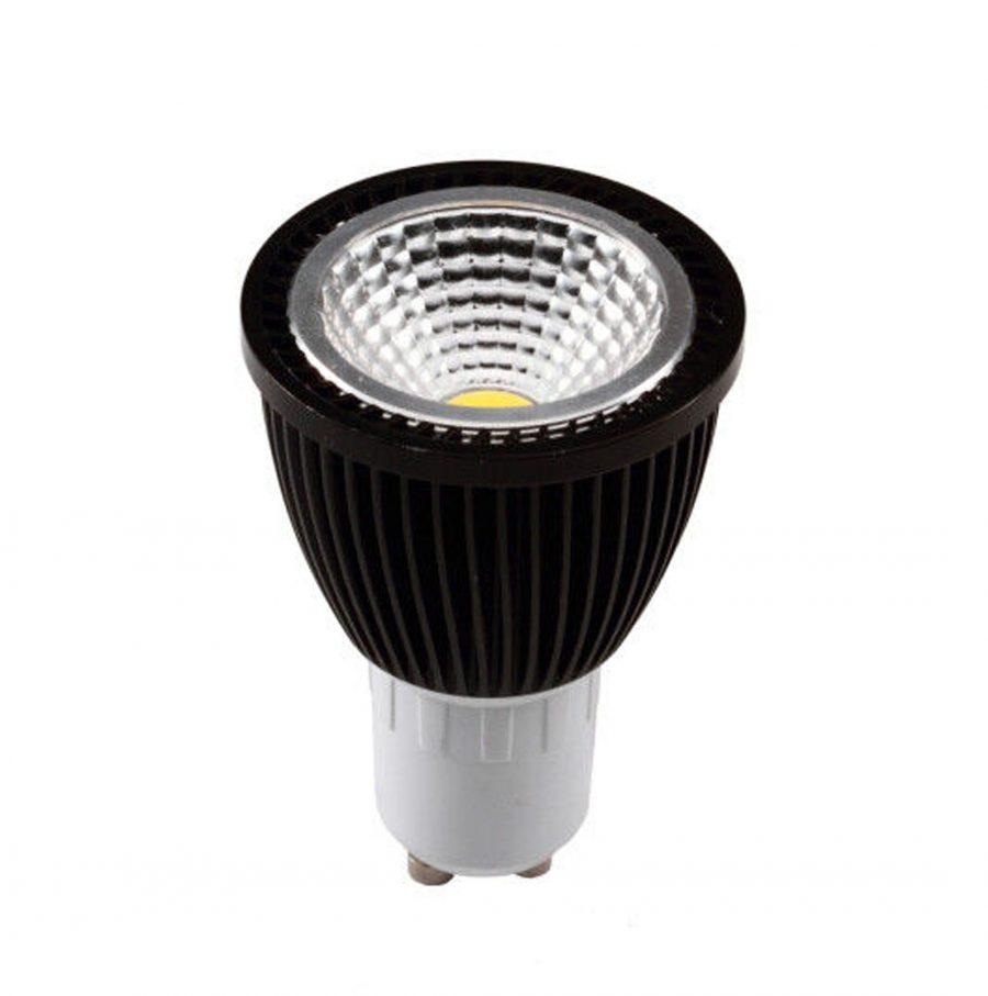 BOMBILLA LED DICROICA 5W COB. BLACK GU10/MR16 110V CW /WW