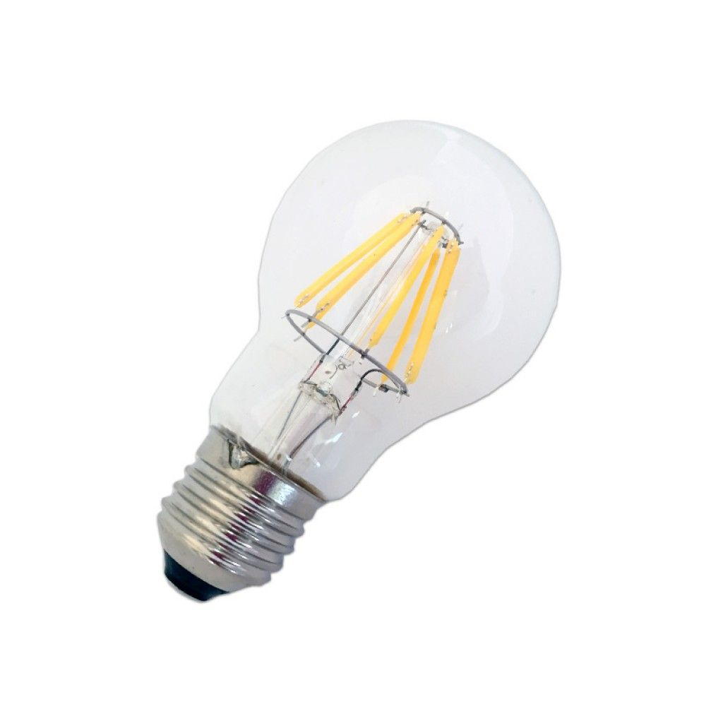 Bombillo LED Filamento 6W y 8W Luz calida E27