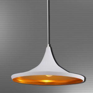 Lámpara tipo plato, balnca, rosca E27