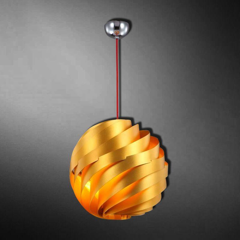 Lámpara decorativa Bola de metal en capas