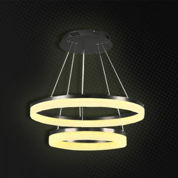LAMPARA DECORATIVA 2 AROS LED CW /WW P9009DW 6500K