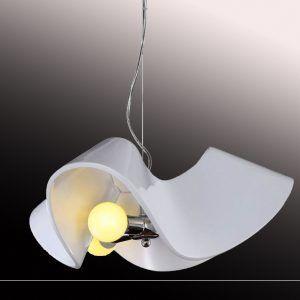 LAMPARA DECORATIVA COLGANTE ONDULADA ACRÍLICA BLANCA SE-P1171