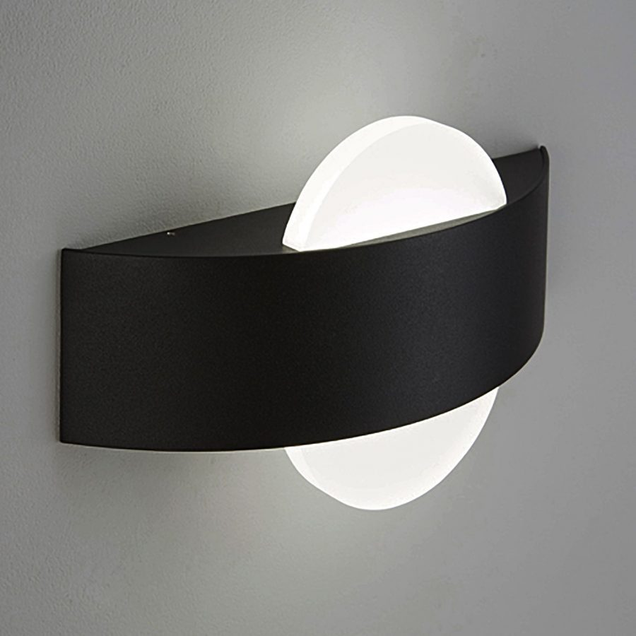 APLIQUE DE PARED CURVO DOBLE LUZ