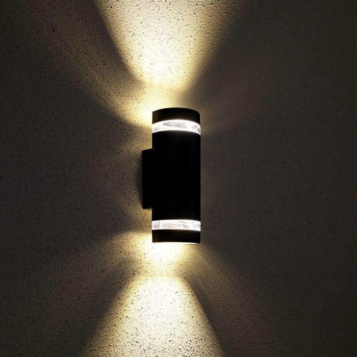Aplique aros transparente, doble luz