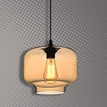 Lámpara Cristal ámbar Cód.3875