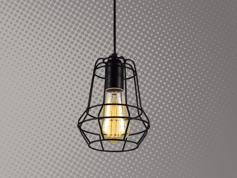 Lámpara de rejilla Forma de pera Cód.3878
