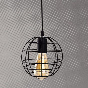 Lámpara de rejilla Forma redonda