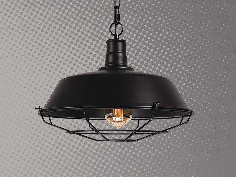 Lámpara de rejilla cover negro Cód.3873