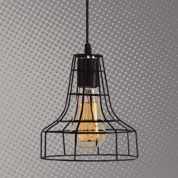 Lámpara de rejillas Forma de campana Cód.3879