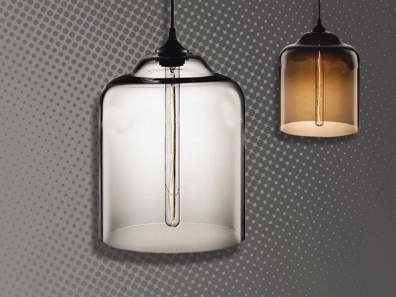 LAMPARA CRISTAL CLEAR Y CAFE 3876-3877