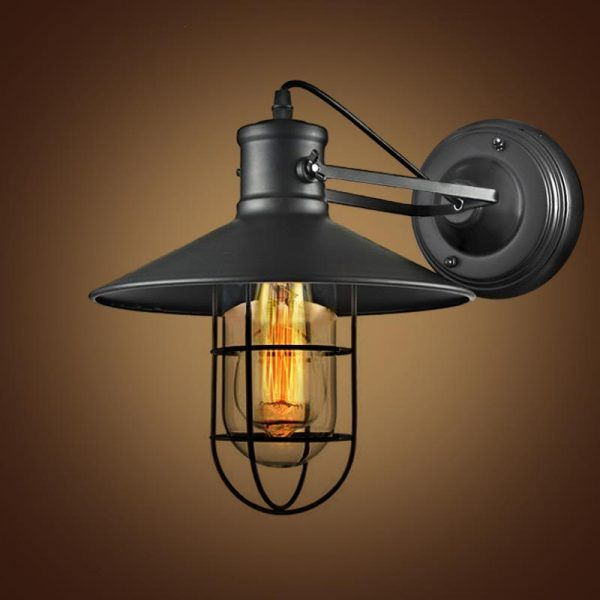 STL-Retro-Iron-Wall-Lamp-Wrought-Industrial