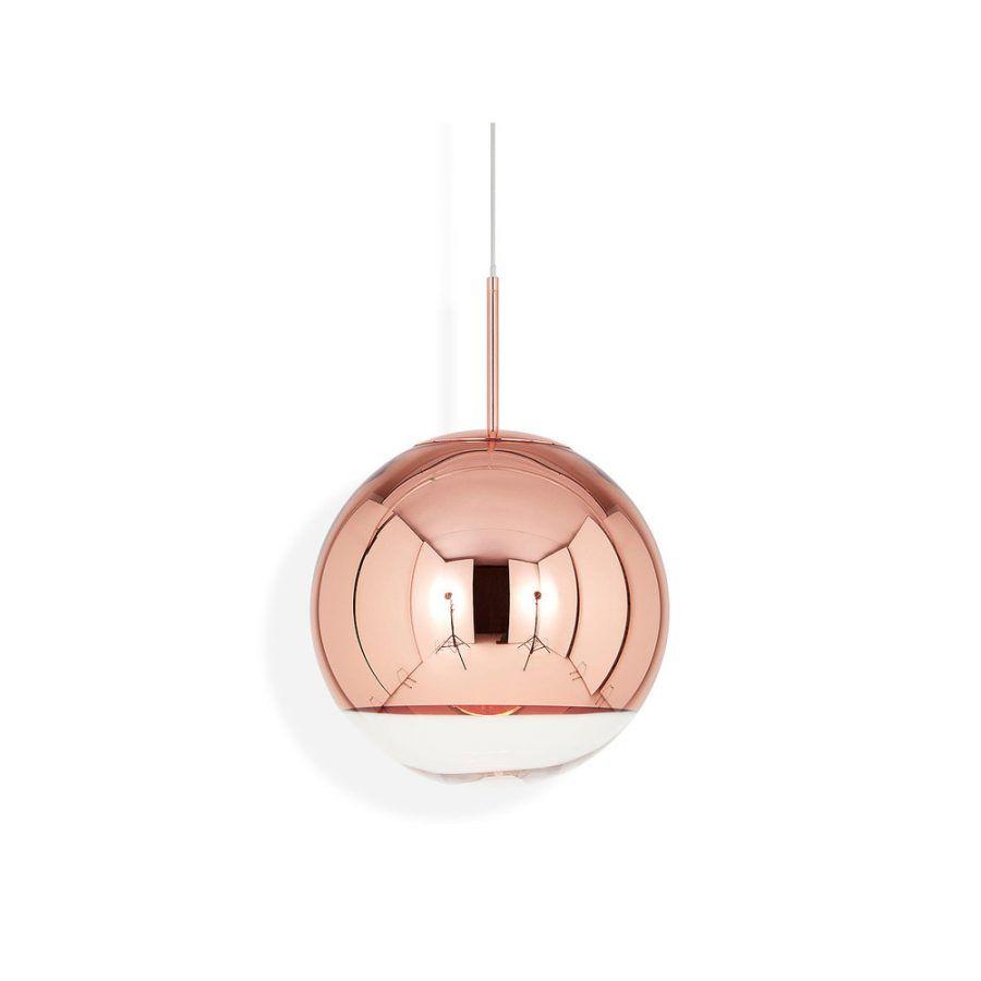 Lampara color cobre y cristal