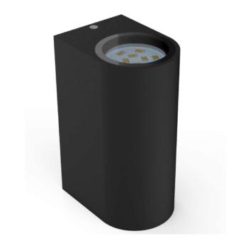 Aplique color negro doble luz