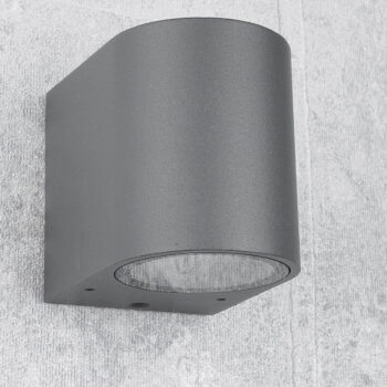 Aplique de pared una luz gris